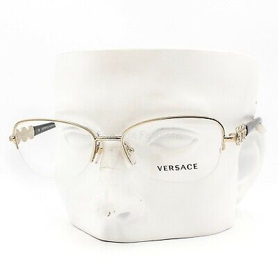Versace MOD 1217-B 1252 Semi Rimless Eyeglasses Glasses Gold 54-17-135