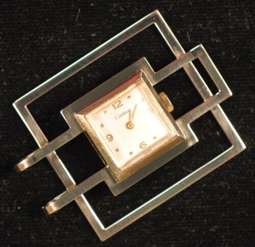 Vintage Cartier Money Clip Watch 14k Gold Item S-68