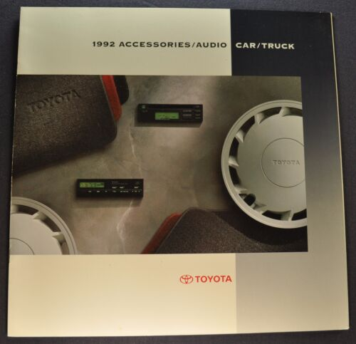 1992 Toyota Accessories Brochure Pickup Land Cruiser Camry Celica Corolla MR2 92