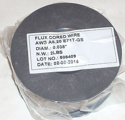 4lbs Flux Core E71t-gs Gasless Welding Wire .035 Diameter 2 2lb Rolls