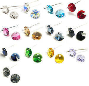 Swarovski-Element-Crystal-6428-Xilion-Rivoli-Charm-Disc-Variable-Color-Size