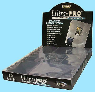 50 ULTRA PRO PLATINUM 9-POCKET Card Pages Sheets Protectors Baseball Storage