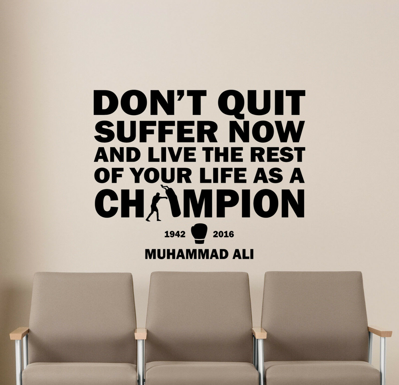 Muhammad Ali Quote Wall Decal Boxer Gift Vinyl Sticker Poste