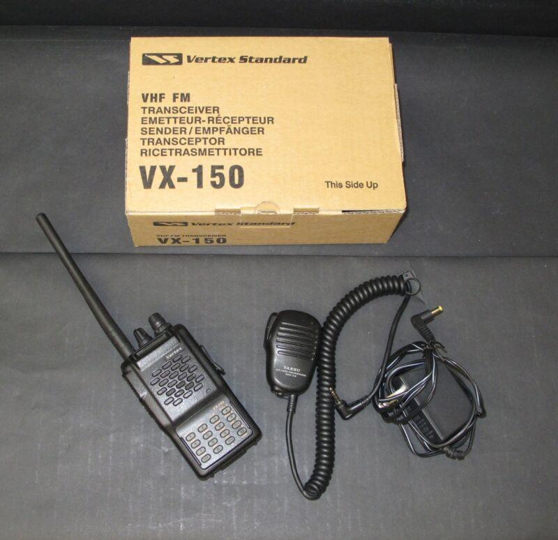 Yaesu Vertex VX-150 2 Meter Handheld VHF Transceiver & Yaesu MH-34 Microphone