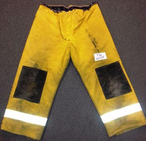 42x28 Firefighter Pants Bunker Fire Turn Out Gear Yellow Janesville P761