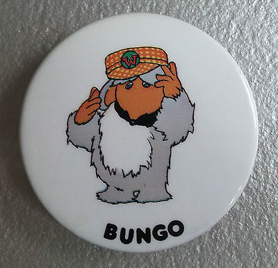 Badge Vintage Retro Pin Badge BUNGO RAINBOW DESIGNS TV TELEVISION WOMBLES 1970s Designs-tv