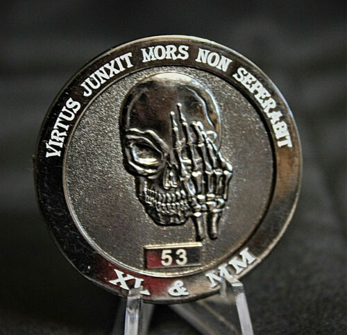 RARE Widows Sons Ride Hard Freemason Grand Lodge Challenge Coin