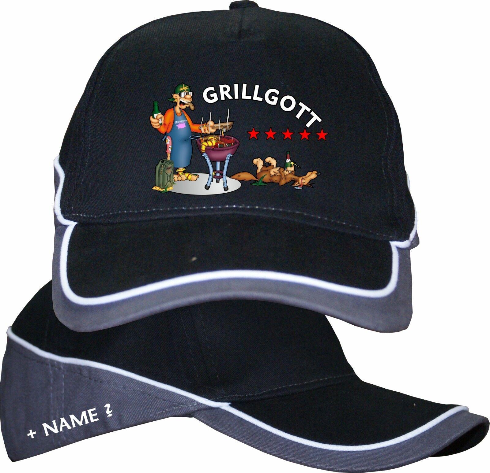 Grillgott Grillmeister Base Cap Kappe Basecap Mütze Grillmütze Geburtstags 22