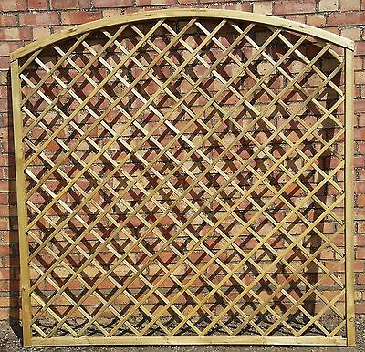 WOODEN GARDEN  ARCHED CURVED TRELLIS 180cm/6ft x 180cm/6ft