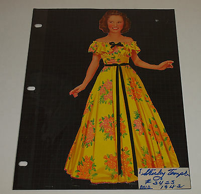 Vintage 1942 Saalfield THE NEW SHIRLEY TEMPLE Teenager Cut Paper Dolls