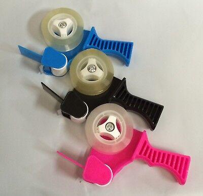 1 Rolls Clear Transparent Tape Dispenser Refills 34x82ft Mini Tape Gun