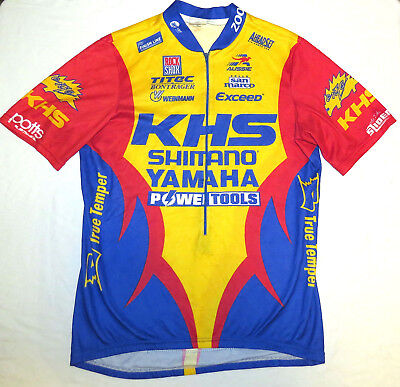 vtg Aussie KHS SHIMANO YAMAHA Cycling Jersey LARGE 90s Rock Shox Exceed  Tools L e14dc2264