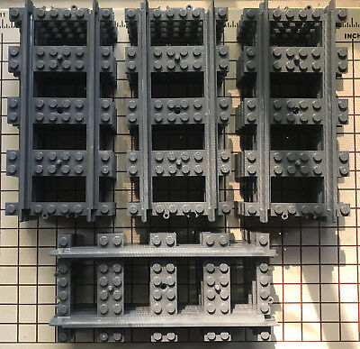16 X Genuine Lego Straight Train Track For Rc And Power Functions Brand New