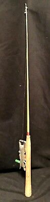 VINTAGE ICE FISHING ROD - NO MAKERS MARKS - SIMPLICITY AT ITS BEST - READY TO (Best Ice Fishing Pole)