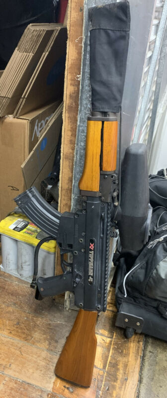 TIPPMANN X7 ELECTRONIC PAINTALL MARKER AK47 CUSTOM E-TRIGGER