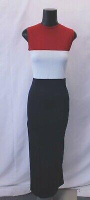 boohoo Women's Plus Grace Colour Block Maxi Dress AB3 Navy Size US:12 UK:16 NWT