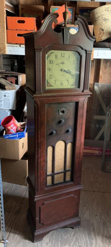 Antique/Vintage PHILCO  GRANDFATHER CLOCK / RADIO