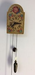 Antique Wood Wag On Wall Clock