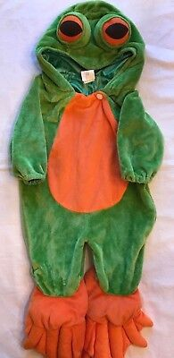 Frog Dress Up Costume Infant 6-12 Mo. One Piece Sleeper Toms Toy International  (Tom Baby Halloween Costumes)