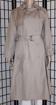 VINTAGE LONDON FOG Women's Size 10P Petite Tan Beige Trench Coat Rain Jacket