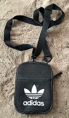 Adidas black & white trefoil festival Bag