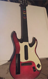 Nintendo Wii guitar hero controller red and white