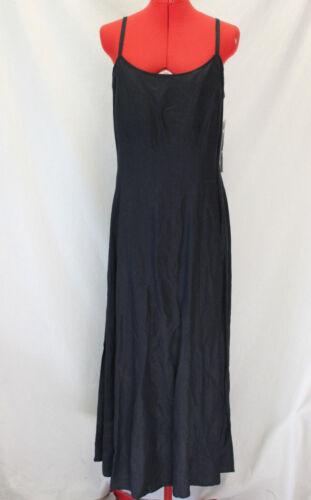 NWT Plaza South Sleeveless Black Linen Blend Full Length Dress/Size 12/Event/NYE