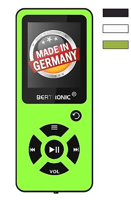 BERTRONIC Made in Germany BC03 16 GB MP3-Player - Grün - 100h - robust - Wecker