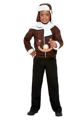 WW1 Child Aviator Pilot Costume Brown Medium - Baby Aviator Costume