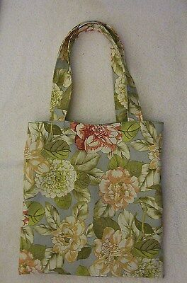 Floral Fully Lined Tote (Hand Tote Bag, Floral Canvas, Handmade Fully Lined, Book/Gift Bag,)