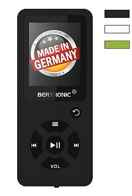BERTRONIC Made in Germany MP3-Player - Schwarz - 100h - robust mit Wecker