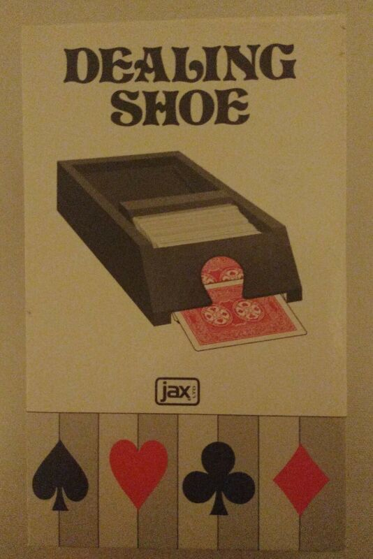 Jax PLAYING CARD DEALING SHOE - Holds 4 Decks - Spring Loaded - 1991 Model 5005