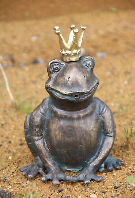 Frog Prince Gargoyle Bronze Figure Frog Frogs Figure Bronze New RO-88494