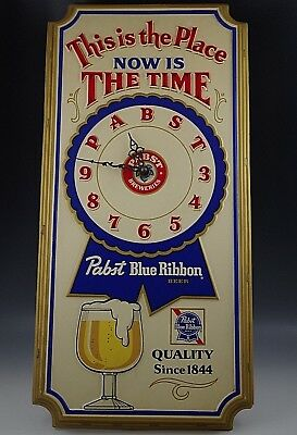 Used, 1979 PABST BLUE RIBBON CLOCK WALL SIGN DISPLAY ELECTRIC PLASTIC 24'' VINTAGE for sale  Staten Island