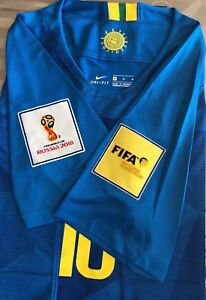 NEYMAR JR 10 - 2018 World Cup Brazil Jersey New w Tags Patches
