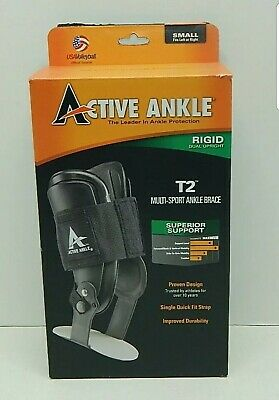 Active Ankle T2 Rigid Ankle Brace / Cramer T2 Hinged Multi Sport  SZ Small