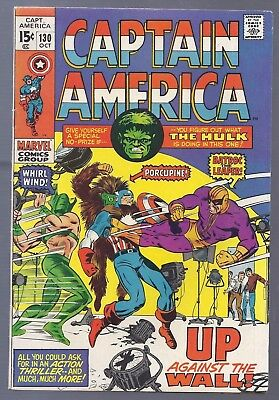 Bronze Age Marvel Captain America #130 October 1970 Batroc Cover 1st Series Scan