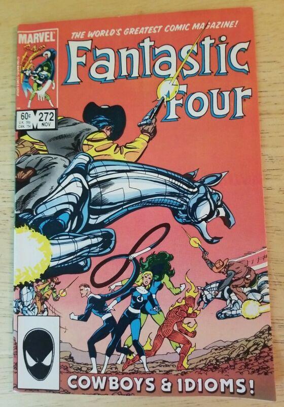 Fantastic Four #272 Comic Book 1984 Marvel Key Issue John Byrne Cowboys & Idioms
