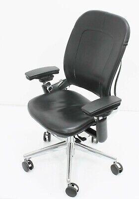 Steelcase Leap Coach Leather Limited Edition Executive Fully Loaded Alum. Aeron