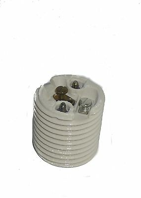 (LEVITON 20080-198 PORCELAIN THREADED MEDIUM BASE LAMP HOLDER SOCKET )