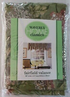 Waverly Home Classics Fairfield Valance Curtain NEW Cliffside Cottage Sage Cottage Classic Sage Green