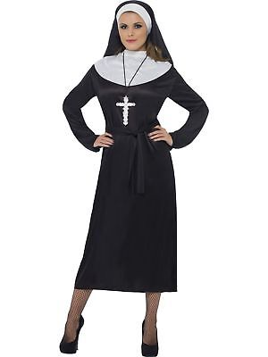Smiffys Nun Religious Catholic Church Adult Womens Halloween Costume 20423](Halloween Catholic)