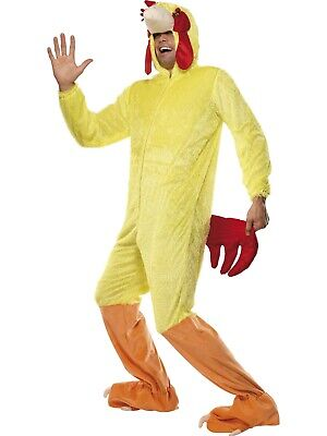Chicken All-in-one Hooded Jumpsuit And Striped Feet Animal Fancy Dress Costume](Chicken Costume Feet)