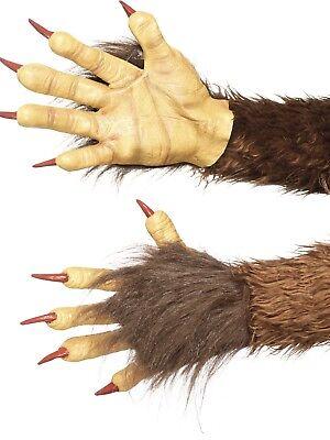 Krampus Demon Handschuhe Latex Biest Tier Kostüm Zubehör - Tier Handschuhe Braun