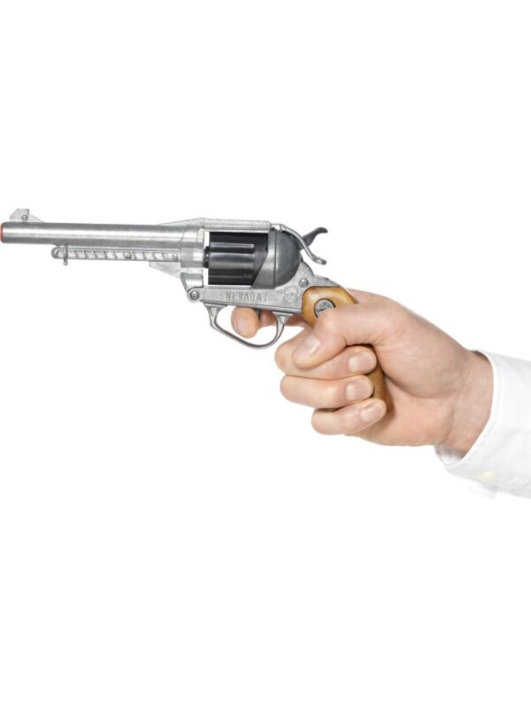Deluxe Nevada Style Pistol 2 Shots Cowboy Fancy Dress Accessory