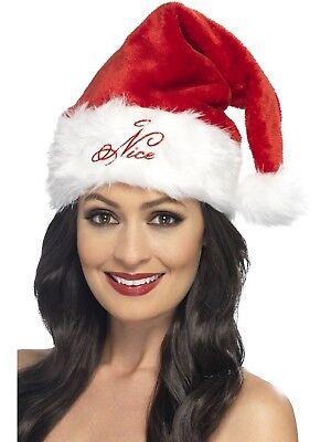 Chirstmas Santa Hat Naughty Or Nice Ladies Party Hat
