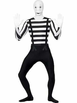 Mime Artist Second Skin Adult Costume - Mimes Costumes