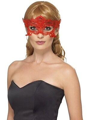 Spitze Bestickt Filigranes Herz Augenmaske Damen Maskenball Verkleidung Maske ()
