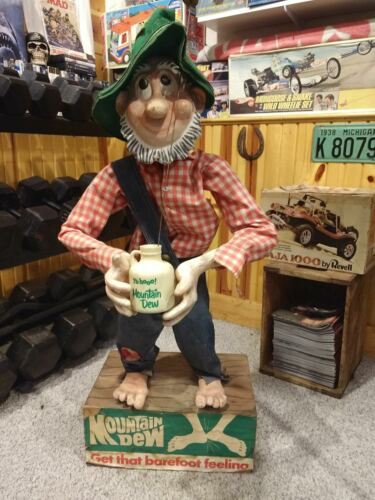 Mountain Dew Willy The Hillbilly Display