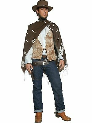 Wild West - Wandering Gunman Clint Eastwood Adult Costume - Good, Bad & Ugly - West Costumes